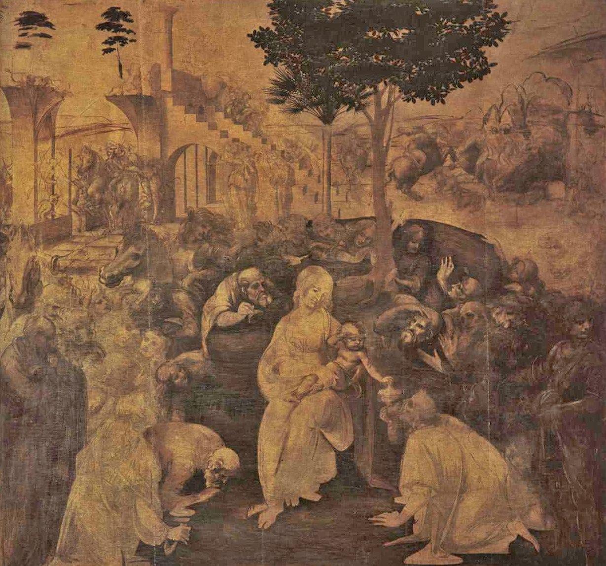 Adoration of Magi (Akil Adamların Hayranlığı) - Leonardo da Vinci - Uffizi Galerisi Bileti ve Rehberi