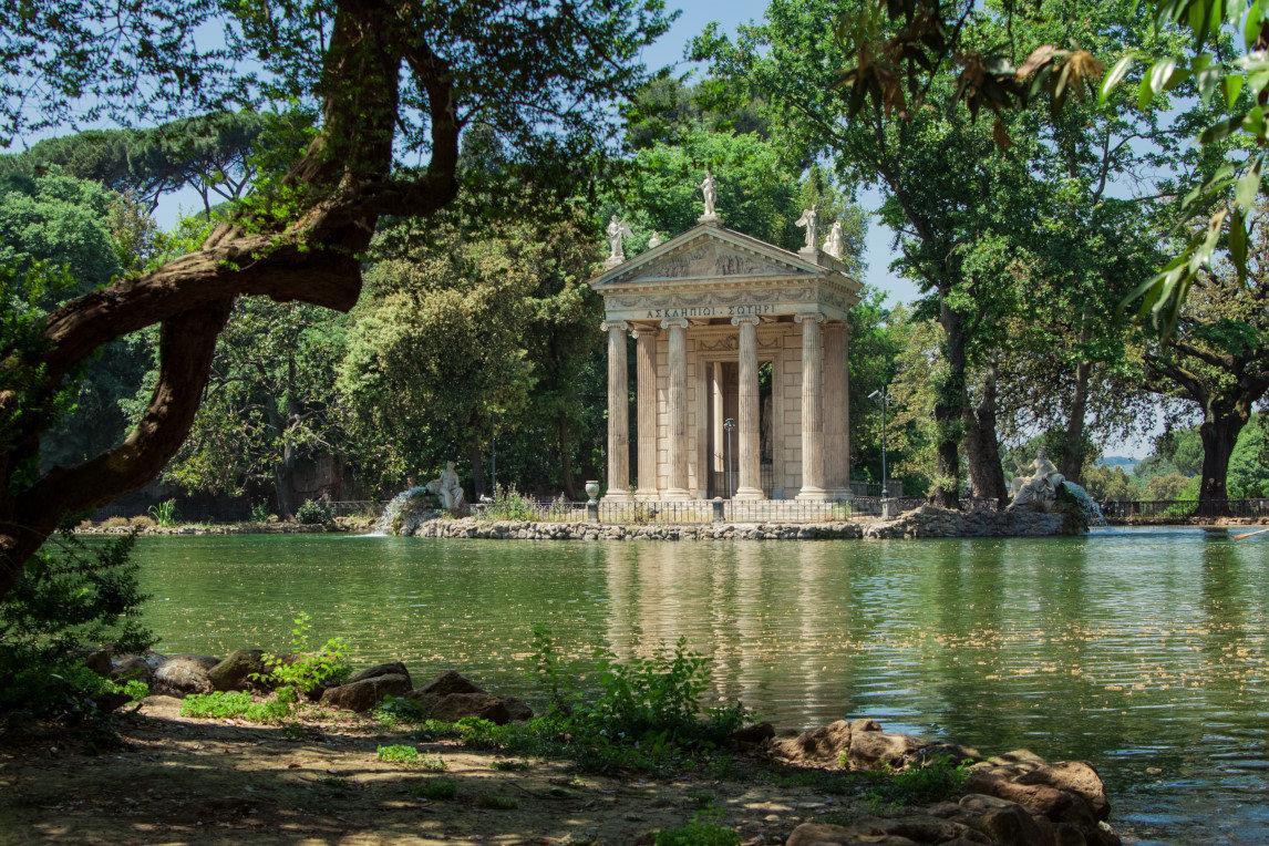 Asclepius ( Esculapio) Tapınağı Borghese Parkı - Enfes Manzara
