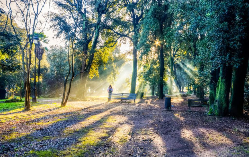 Borghese Parkı'nda güzel bir gün