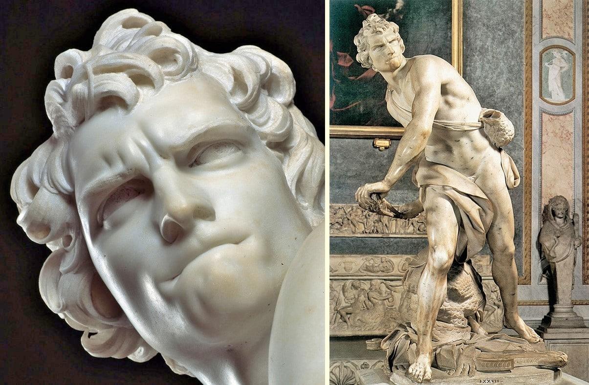 Davud Heykeli - Bernini-Borghese Galerisi, Roma, İtalya