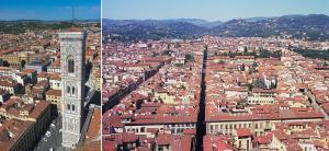 Floransa Katedrali Çan Kulesi ve Floransa Manzarası