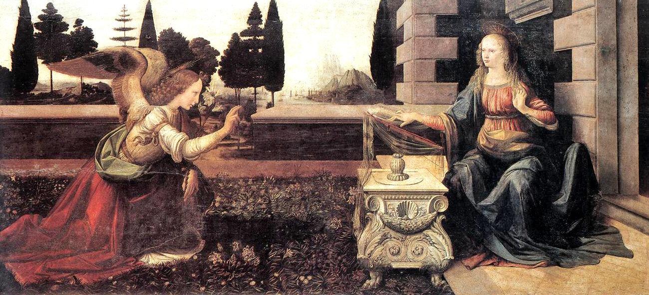 The Annunciation (Müjde) - Leonardo Da Vinci - Uffizi Galerisi Bileti ve Rehberi