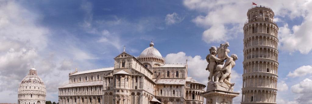 Pisa Kulesi ve Meydanı Panoramik Foto