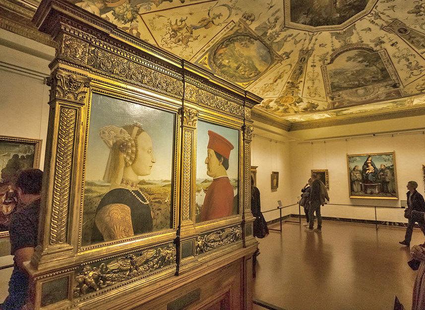 Urbino Dükü ve Düşesi - Uffizi Galerisi