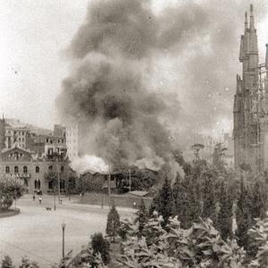İspanyol İç Savaşında Sagrada Familia
