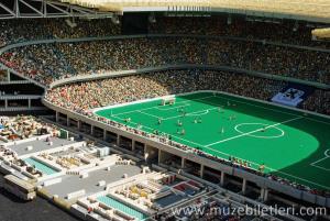 Allianz Arena stadyumu - Mini Land, Legoland Deutschland Resort, Münih, Almanya.