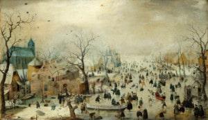 Hendrick Avercamp - Kış Manzarası - Rijks Müzesi - Rijksmuseum, Amsterdam, Hollanda.