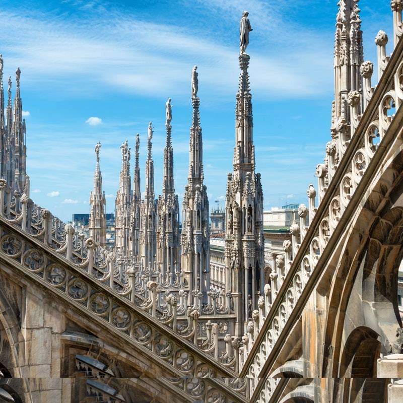 Milano Duomo Katedrali Çatısı