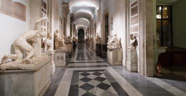 Palazzo Nuovo'nun Koridorları.