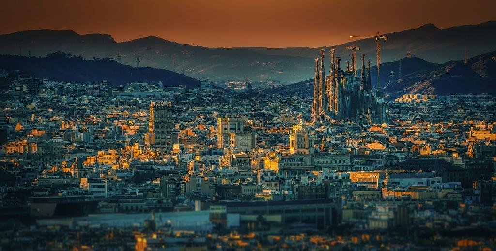 Sagrada Familia ve Barselona