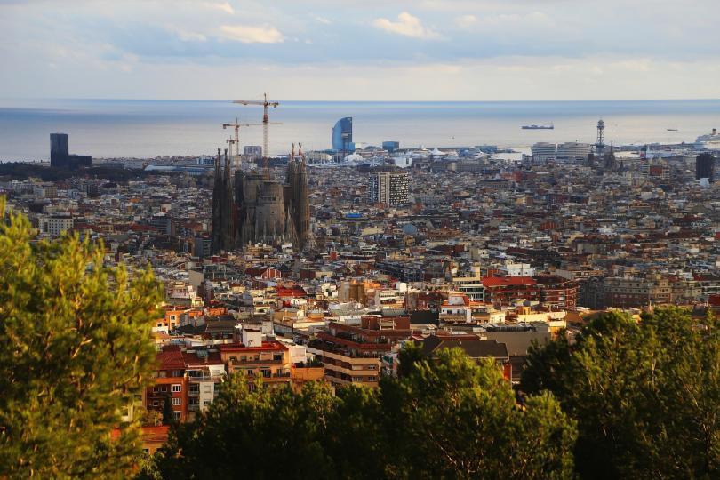 Sagrada Familia ve Barselona