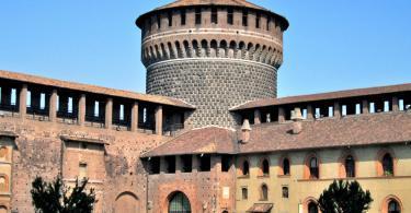 Sforza Kalesi (Sforzesco Şatosu) Kalesi ve Müzeleri