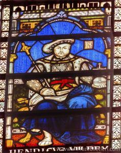 Henry VIII Vitray detayı 13'üncü yüzyıl - Westminster Abbey Manastırı, Londra, İngiltere