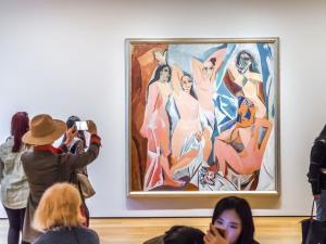 Pablo Picasso - Avignonlu Kızlar - New York Modern Sanat Müzesi (MoMa)