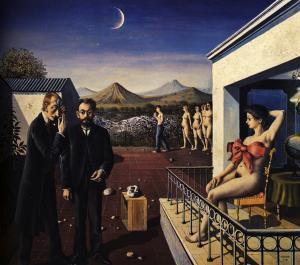 Paul Delvaux - Phases of the Moon (1939) - Ayın Evreleri - MoMa'da sergidedir.
