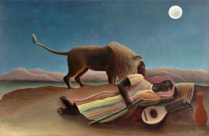 The Sleeping Gypsy, 1897 - Henri Rousseau - MoMa'da sergidedir.