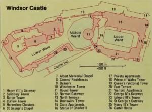 Windsor Castle - Windsor Kalesi Haritası