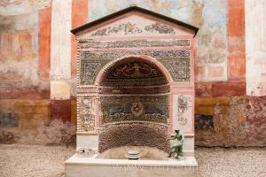 House of the Small Fountain in the ancient city of Pompeii