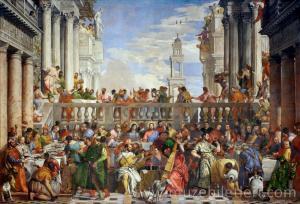 Les Noces De Cana - Cana'da Düğün - Denon Kanadı - Louvre Müzesi, Paris.