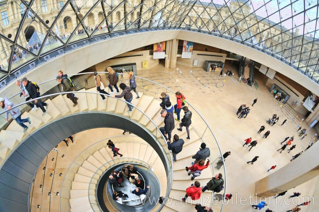 Louvre Müzesi - Louvre Piramidi'nin Merdivenleri