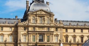 Louvre Müzesi - Sully Kanadı'nın dışarıdan görünümü