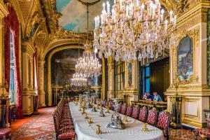 Napolyon Odaları Louvre - Büyük Yemek Salonu kısmı.