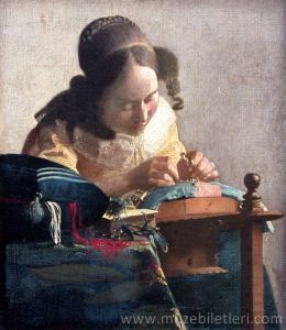 The Lace Maker (Dantel Ören Kız) - Richelieu Kanadı, Louvre Müzesi
