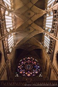 Aziz Vitus Katedrali - Vitraylar ve tavan.