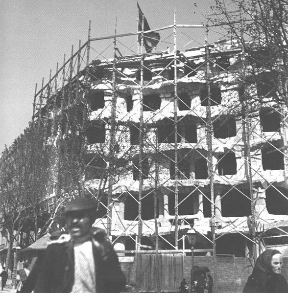 Casa Mila inşaat halinde.