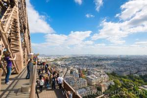 Eyfel Kulesi'nden muhteşem Paris Manzarası
