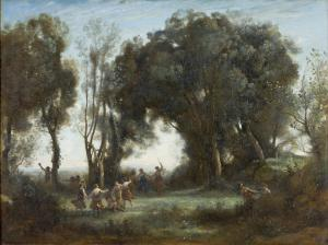 """Jean-Baptiste Camille Corot, """"A Morning. The Dance of the Nymphs"""" - Orsay Müzesi"""