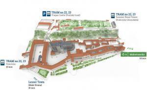 Prag Kalesi'ne Nasıl Ulaşılır - Toplu Ulaşım Haritası