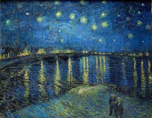 Van Gogh, Rhone Üzerinde Yıldızlı Gece, Orsay Müzesi, Paris, Fransa
