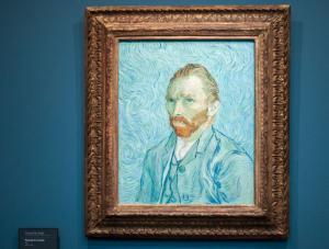 Van Gogh'un Orsay Müzesi'ndeki oto portresi. Paris, Fransa.