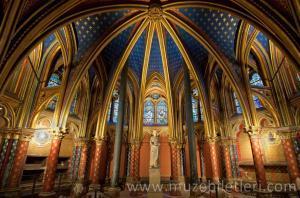 Alt Şapel- Lower Chapel - Sainte Şapeli, Paris, Fransa.