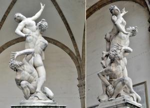 Giambologna - Rape of the Sabine Women (Sabine Kadınına Tecavüz) - Galleria dell'Accademia (Akademi Galerisi) - Floransa, İtalya