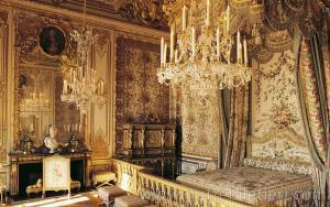 Marie Antoinette'nin odası & konağı. Versay Sarayı, Paris, Fransa.