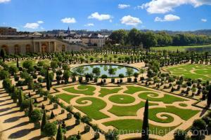 Versay Sarayı'nın bahçelerinden bir kesit.