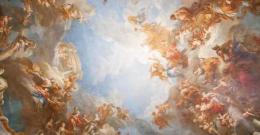 Versay Sarayı'nın süsleyen fresklerden bir detay.