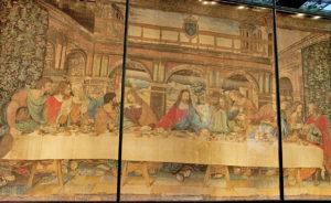 9'uncu odadaki İsa'nın son yemeği halısı Da Vinci'nin eserinin o hayatteyken halıya işlenen bir kopyasıdır.