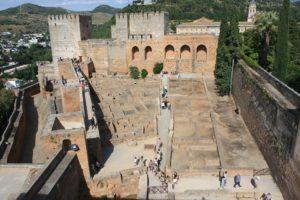 Alcazaba Genel Görünümü - El Hamra Sarayı