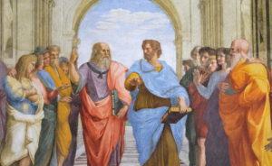 Atina Okulu - Platon ve Aristoteles - Raphael Odaları, Vatikan.