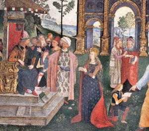 Vatikan'da Cem Sultan freski