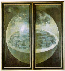 Bosch'un Dünyevi Zevkler Bahçesi eserinin arka kısmı - Prado Müzesi