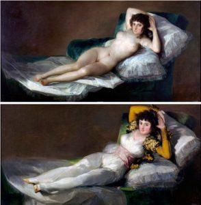 Goya Çıplak ve Giyinik Maya