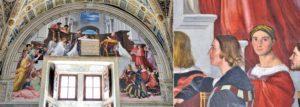 Raphael Odaları'nda Raphael'in oto portresi