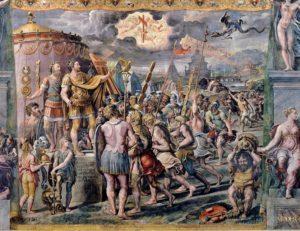 Konstantin Salonu - Haç Vizyonu Eseri - Musei Vaticani