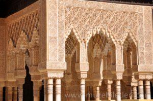 Nasri Sarayı duvar süslemeleri benzersizdir - El Hamra Sarayı