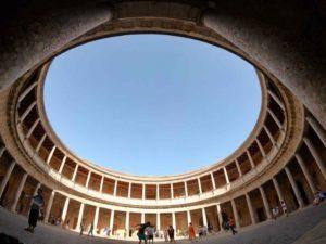 Nasri Saraylarının yanındaki Carlos Sarayı'ndan bir görünüm.