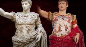 Prima Portalı Augustus heykelinin renklendirilmiş hali.